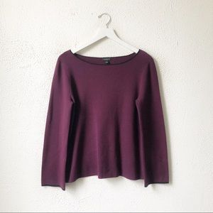 NWT Ann Taylor | Eggplant Scoop Neck Sweater M